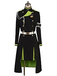 cheap -Inspired by Seraph of the End Cosplay Anime Cosplay Costumes Cosplay Suits Other Long Sleeves Top Skirt Gloves More Accessories For Men's