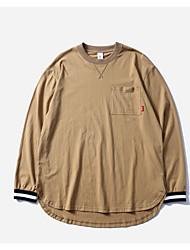 T-shirt de poliéster masculino - camuflagem de listrado