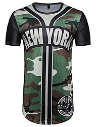 cheap -Men's T-shirt - Letter Camouflage, Print