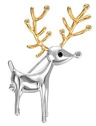 preiswerte -Damen Broschen Kubikzirkonia vergoldet Elf Silber Tiere Böhmische Schmuck Party Geschenk Modeschmuck