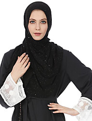cheap -Women's Basic Polyester Hijab - Print Layered