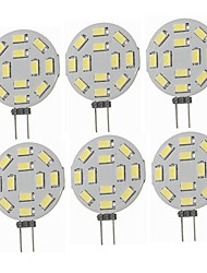 abordables -SENCART 6pcs 5W 360lm G4 LED à Double Broches T 12 Perles LED SMD 5730 Décorative Blanc Chaud Blanc Froid 12-24V