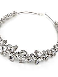 cheap -Gemstone & Crystal Alloy Tiaras with Crystal/ Rhinestone 1pc Wedding Headpiece