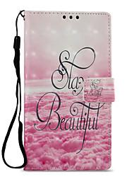 Недорогие -Кейс для Назначение Sony Xperia L2 Xperia XZ2 Бумажник для карт Кошелек со стендом Флип С узором Чехол Пейзаж Твердый Кожа PU для Xperia