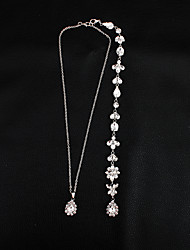 cheap -Long Body Chain Flower European, Fashion Women's Silver Body Jewelry For Wedding / Daily
