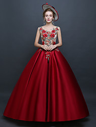cheap -Princess Renaissance Rococo Costume Women's Dress Masquerade Party Costume Red Vintage Cosplay Polyster Sleeveless Floor Length