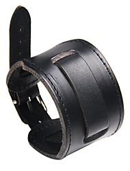 Недорогие -Муж. Кожаные браслеты - Кожа Мода, Steampunk Браслеты Черный / Коричневый Назначение Карнавал / Для улицы
