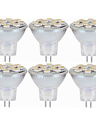 cheap -SENCART 6pcs 5W 160lm MR11 LED Bi-pin Lights MR11 12 LED Beads SMD 5060 Decorative Warm White White 12-24V