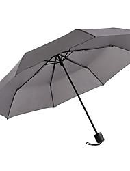 abordables -boy® Tejido / Poliéster Hombre / Todo Soleado y lluvioso / A prueba de Viento Paraguas de Doblar