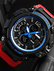 Недорогие -SKMEI Муж. / Для пары Армейские часы Японский Календарь / Защита от влаги / Хронометр PU Группа Роскошь / На каждый день Черный / Красный / Хаки / Фосфоресцирующий