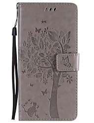 cheap -Case For Motorola C plus C Card Holder Wallet with Stand Flip Pattern Full Body Cases Cat Tree Hard PU Leather for Moto Z Force Moto Z
