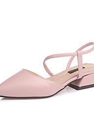 preiswerte -Damen Schuhe PU Sommer Komfort Sandalen Blockabsatz Beige / Gelb / Rosa