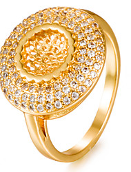 Недорогие -Жен. Кольцо Цирконий Золотой Позолота Геометрической формы Мода Подарок Свадьба Подарок Бижутерия