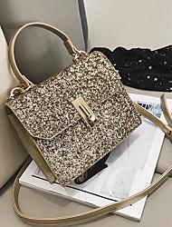 preiswerte -Damen Taschen PU Umhängetasche Reißverschluss für Normal Schwarz / Rosa / Silber