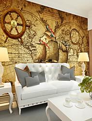 abordables -Décoration artistique Motif 3D Décoration d'intérieur Classique Rétro Revêtement, Toile Matériel adhésif requis Mural, Couvre Mur Chambre