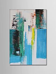 Ručno oslikana Sažetak Vertikalno, Moderna Platno Hang oslikana uljanim bojama Početna Dekoracija Jedna ploha