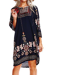 cheap -Women's Going out Street chic A Line Dress - Floral
