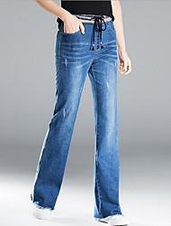 cheap -Women's Cotton Jeans Pants - Solid Colored Basic