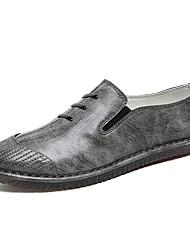 Недорогие -Муж. Кожа / Искусственная кожа Весна / Лето Удобная обувь Мокасины и Свитер Черный / Серый / Красный