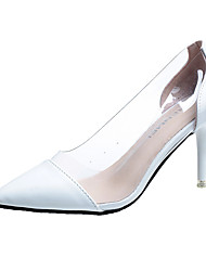 preiswerte -Damen Schuhe PU Sommer Komfort High Heels Walking Stöckelabsatz Spitze Zehe Schwarz / Beige / Rot