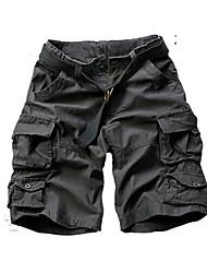 baratos -algodão ativo dos homens mais o tamanho do algodão solto chinos shorts calças - camuflagem de cor sólida