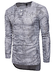 cheap -Men's Street chic Cotton Slim T-shirt - Camouflage Round Neck
