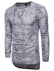 abordables -Hombre Camiseta, Escote Redondo Delgado camuflaje Algodón