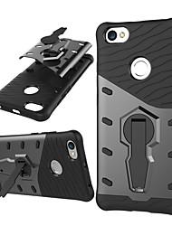 Недорогие -Кейс для Назначение Xiaomi Redmi Примечание 5A Защита от удара со стендом Кейс на заднюю панель броня Твердый ПК для Redmi Note 5A