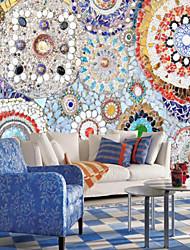 Недорогие -С принтом Ар деко 3D Украшение дома Винтаж Modern Облицовка стен, холст материал Клей требуется фреска, Обои для дома
