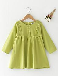 economico -Bambino (1-4 anni) Da ragazza Semplice Tinta unita Manica lunga Vestito
