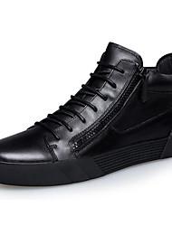 Недорогие -Муж. Армейские ботинки Наппа Leather / Кожа Осень / Зима Удобная обувь / Армейские ботинки Ботинки Ботинки Черный