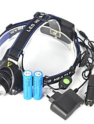 cheap -Headlamps LED 5000lm 1 Mode Portable / Professional / Wearproof Camping / Hiking / Caving / Cycling / Bike / Hunting Blue