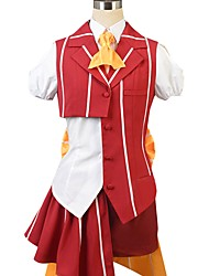 cheap -Inspired by Macross Frontier Cosplay Anime Cosplay Costumes Cosplay Suits Other Short Sleeves Shirt Top Skirt Bow More Accessories Hat For