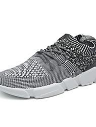 baratos -Homens sapatos Tule Primavera Verão Conforto Tênis para Casual Ao ar livre Preto Cinzento Azul