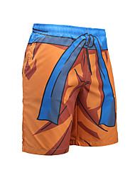 baratos -Homens Esportivo Activo Shorts Chinos Calças - Listrado Estampa Colorida
