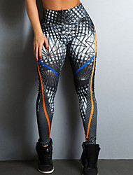 cheap -Women's Sporty Legging - Print, Geometric Mid Waist