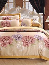 levne -Povlečení Květinový Luxus 4 kusy 100% bavlna bavlna - žakár Žakár 100% bavlna bavlna - žakár Povlak na přikrývku 1 ks 2 ks polštář 1 ks