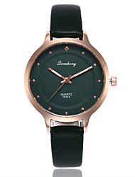 cheap -Women's Fashion Watch Quartz Casual Watch PU Band Analog Casual Minimalist Black / White / Brown - Black Brown Dark Green