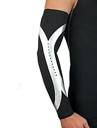 abordables -Équipement de protection Support pour Coude Manches de Compression Haut du Bras pour Basket-ball Course/Running Unisexe Résistant aux