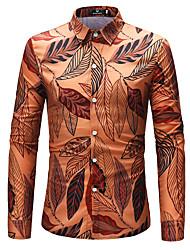 Herre - Blomstret, Trykt mønster Skjorte