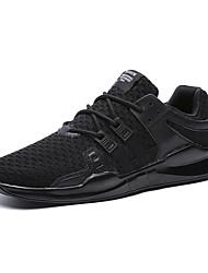 baratos -Homens sapatos Tricô Primavera Outono Conforto Tênis Caminhada Cadarço para Casual Preto Cinzento Preto e Vermelho Vermelho Branco/Preto