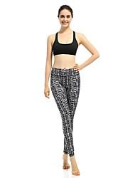 baratos -Mulheres Calças de Yoga Esportes Estampado, Lolita Meia-calça / Leggings Ioga, Pilates, Exercício e Atividade Física Roupas Esportivas Respirabilidade