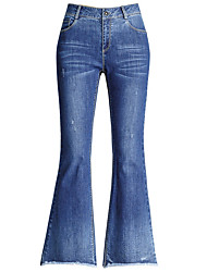 cheap -Women's Simple Bootcut Jeans Pants - Solid Colored