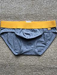 abordables -sous-vêtements solides normaux extensibles pour hommes, coton spandex 1pc gris foncé