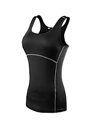 cheap -Women's Muscle Tee Sleeveless Breathability Tank for Exercise & Fitness Polyester White Black Blue Red/White Grey S M L XL XXL