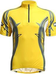 cheap -Jaggad Short Sleeves Cycling Jersey - Yellow Bike