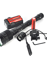cheap -LED Flashlights / Torch LED 6000 lm 3 Black Camping / Hiking / Caving