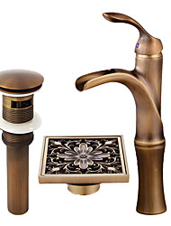cheap -Faucet Set - Waterfall Antique Copper Centerset Single Handle One Hole