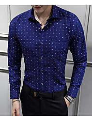 cheap -Men's Business Basic Shirt - Polka Dot Geometric, Print