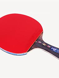 abordables -DHS® R5002C Ping Pang/Tennis de table Raquettes Bois Caoutchouc 5 étoiles Long Manche Boutons